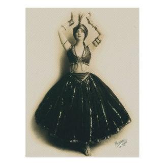 Bailarín del vintage postales