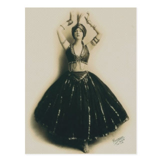 Bailarín del vintage tarjetas postales
