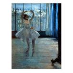 Bailarín delante de una ventana c.1874-77 postal