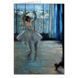 Bailarín delante de una ventana c.1874-77 tarjeta de felicitación