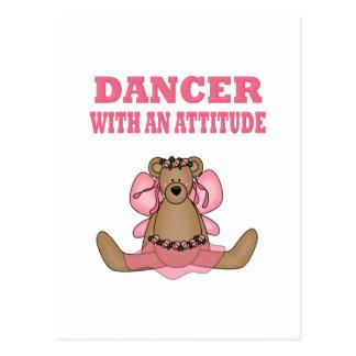 Bailarín divertido con actitud tarjetas postales