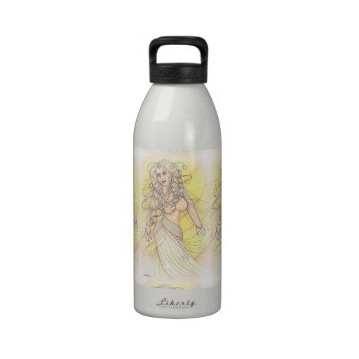 Bailarín en la luz botella de agua reutilizable