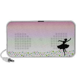 Bailarín entre las estrellas en la puesta del sol  iPod altavoz