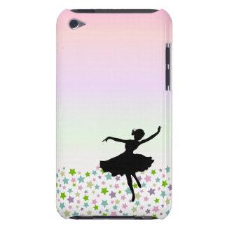 Bailarín entre las estrellas en la puesta del sol  Case-Mate iPod touch carcasas