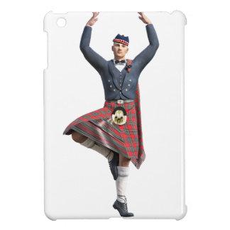 Bailarín escocés con ambas manos para arriba