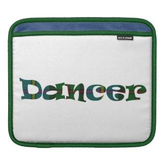 Bailarín escocés de doble cara mangas de iPad