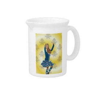 Bailarín escocés de la montaña del conejo lindo jarrones