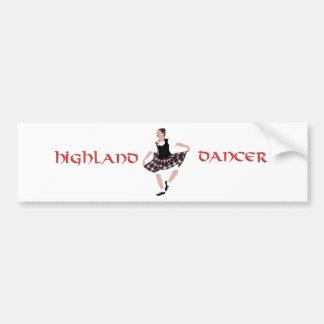 Bailarín escocés del país pegatina para auto