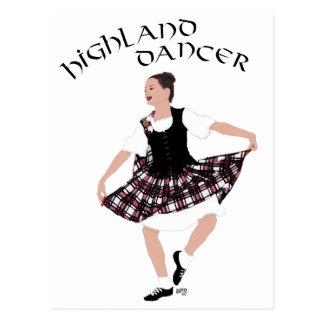 Bailarín escocés del país postales
