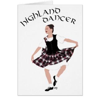 Bailarín escocés del país tarjeta de felicitación