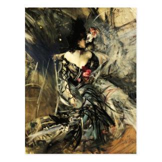 Bailarín español en la postal del colorete