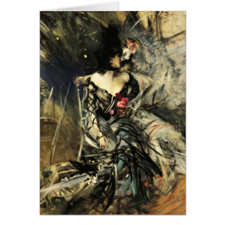 Bailarín español en la postal del colorete tarjeta de felicitación