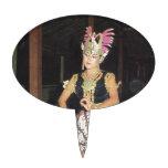 Bailarín exótico de Golek del indonesio Figuras De Tarta