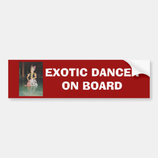 Bailarín exótico de Golek del indonesio Etiqueta De Parachoque
