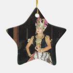 Bailarín exótico de Golek del indonesio Ornamento De Reyes Magos