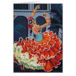Bailarín Feliz Día De Las Madres Card del flamenco Felicitaciones