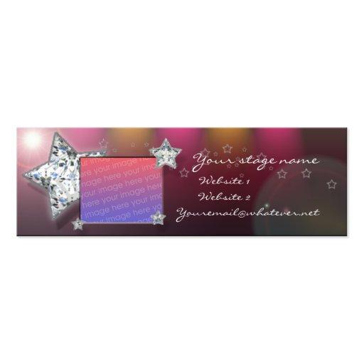 bailarín/folleto del cammer/de la camarera plantilla de tarjeta de negocio
