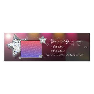 bailarín/folleto del cammer/de la camarera tarjetas de visita mini