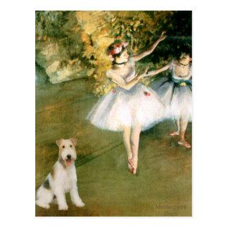 Bailarín - fox terrier #1 del alambre postal