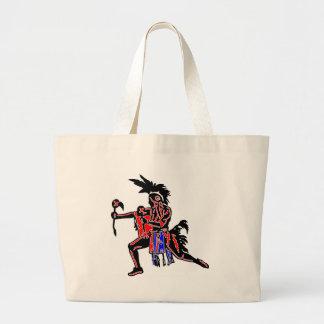 Bailarín indio bolsa tela grande