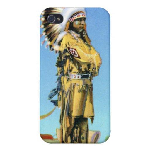 Bailarín indio del pueblo en traje ceremonial iPhone 4 carcasa