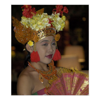 Bailarín indonesio posters