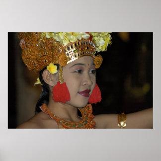 Bailarín indonesio impresiones