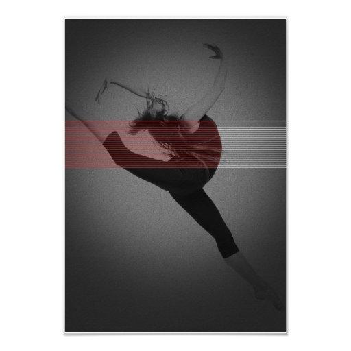 Bailarín Invitación 8,9 X 12,7 Cm