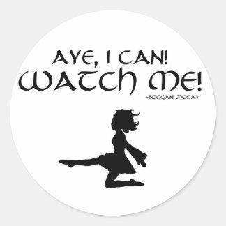 """Bailarín irlandés """"Aye puedo!"""" Pegatina"""