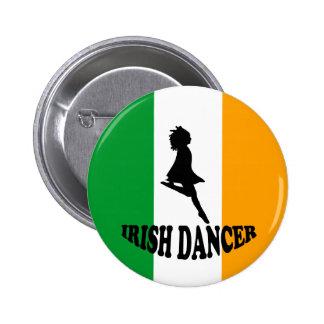 Bailarín irlandés del paso pin redondo 5 cm