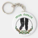 Bailarín irlandés del paso - varón llaveros personalizados