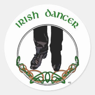 Bailarín irlandés del paso - varón pegatinas