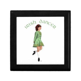 Bailarín irlandés del paso - verde caja de recuerdo