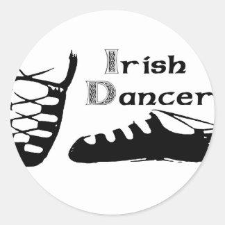 Bailarín irlandés Ghillies Pegatina Redonda