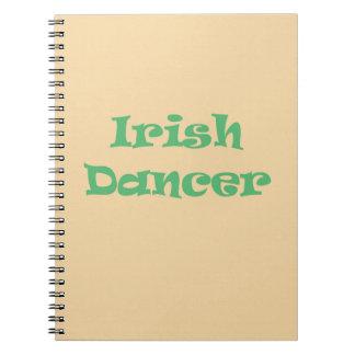 Bailarín irlandés spiral notebooks