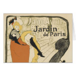 Bailarín Jane Avril, Toulouse Lautrec de Nouveau Tarjeta De Felicitación