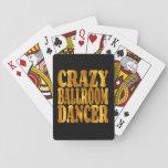 Bailarín loco del salón de baile en oro barajas de cartas