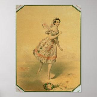 Bailarín Maria Taglioni Poster