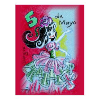 Bailarín mexicano del flamenco de Cinco De Mayo Postales