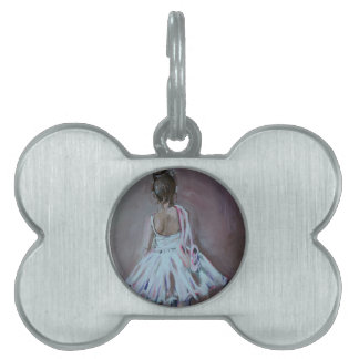 Bailarín minúsculo placa de nombre de mascota