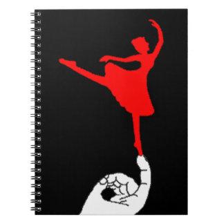 Bailarín minúsculo spiral notebook