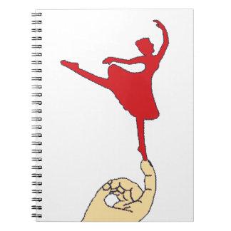 Bailarín minúsculo spiral notebooks