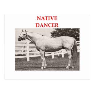 bailarín nativo postal
