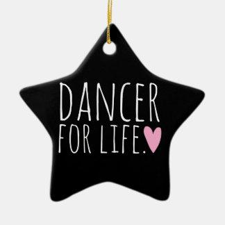 Bailarín para el negro de la vida con el corazón ornamento de navidad