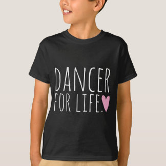Bailarín para el negro de la vida con el corazón playera