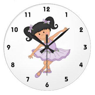 Bailarín-Pequeña bailarina en tutú Reloj Redondo Grande