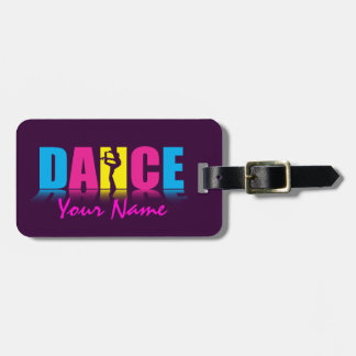 Bailarín personalizado de la danza etiquetas maletas