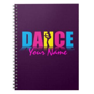 Bailarín personalizado de la danza cuadernos