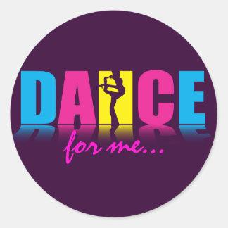 Bailarín personalizado de la danza pegatinas redondas
