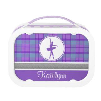 Bailarín púrpura personalizado de la tela escocesa